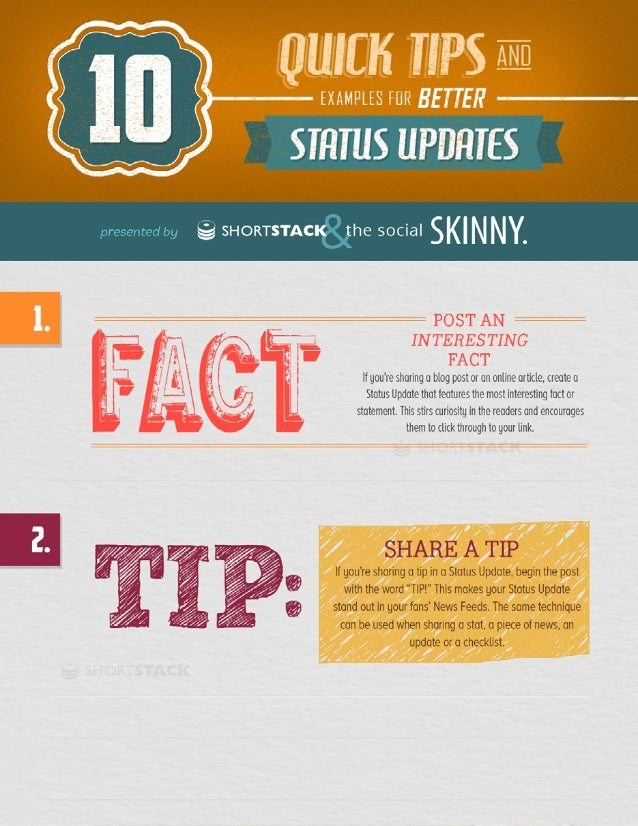 10 Tips for Better Status Updates on Facebook