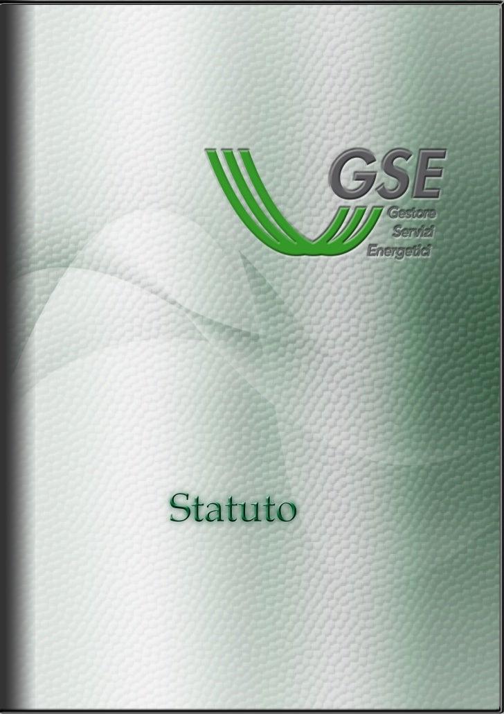 Statuto GSE