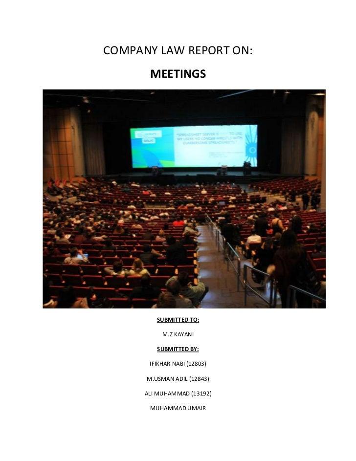 Statutory meeting of company