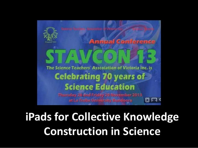 iPads for Collective Knowledge Construction in Science