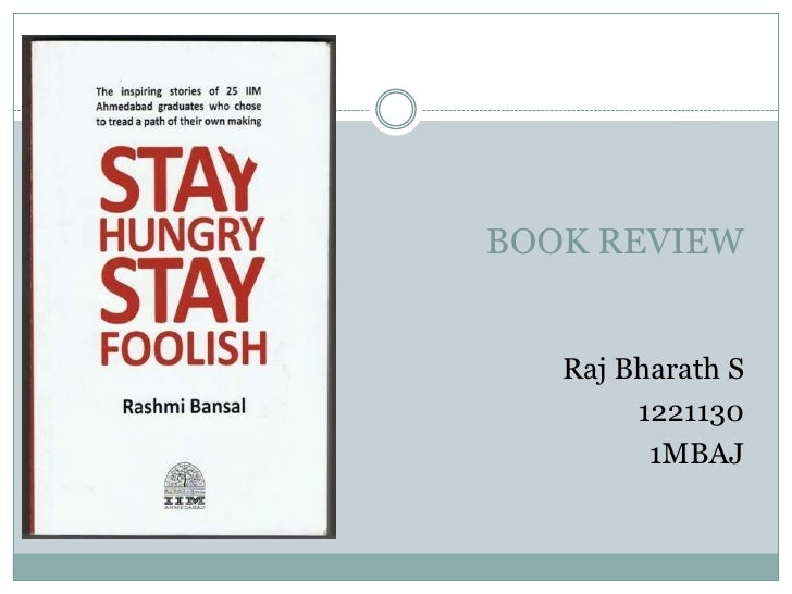 BOOK REVIEW   Raj Bharath S        1221130         1MBAJ