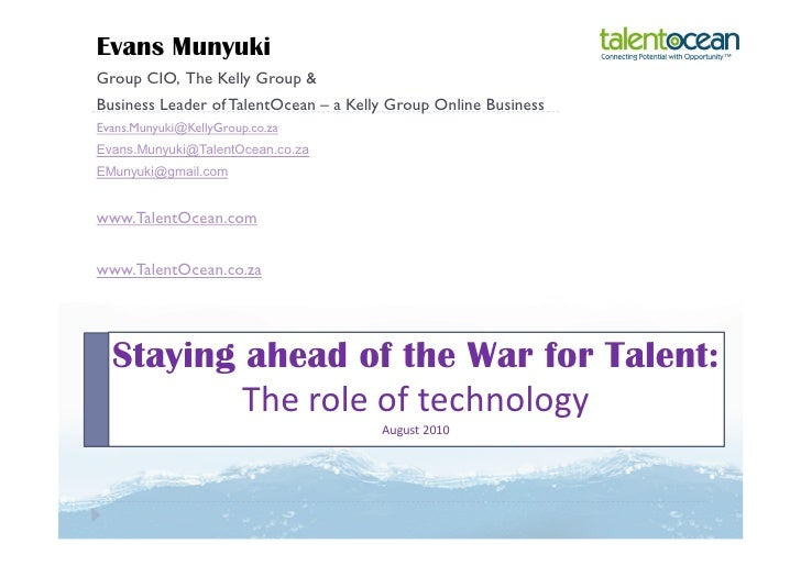 Staying ahead of the war for talent