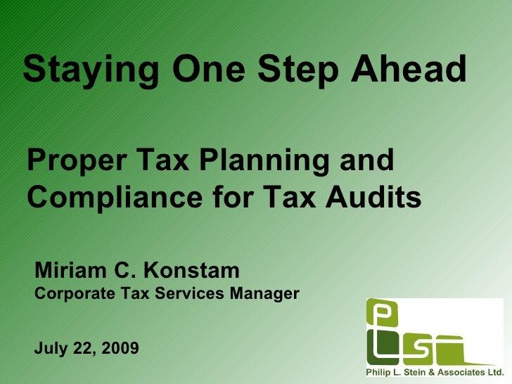 Staying one step ahead seminar