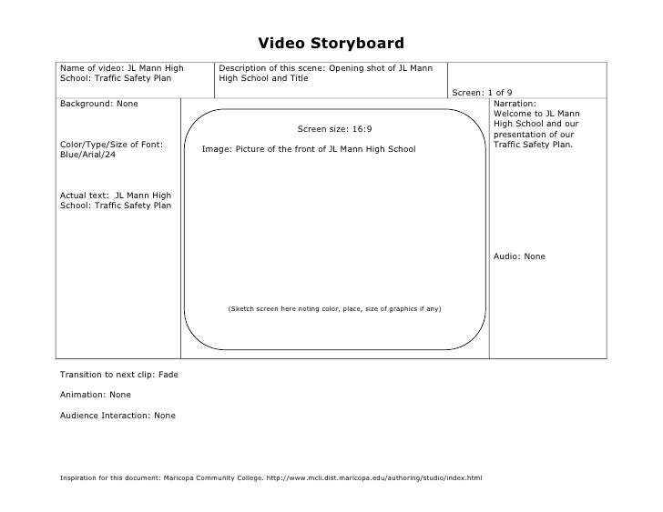 Video StoryboardName of video: JL Mann High                  Description of this scene: Opening shot of JL MannSchool: Tra...