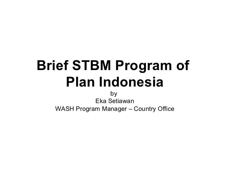 Stbm di plan indonesia maret 2012