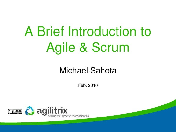STC Agile IntroHow can this possibly work?<br />Michael Sahota<br />Feb. 2010<br />