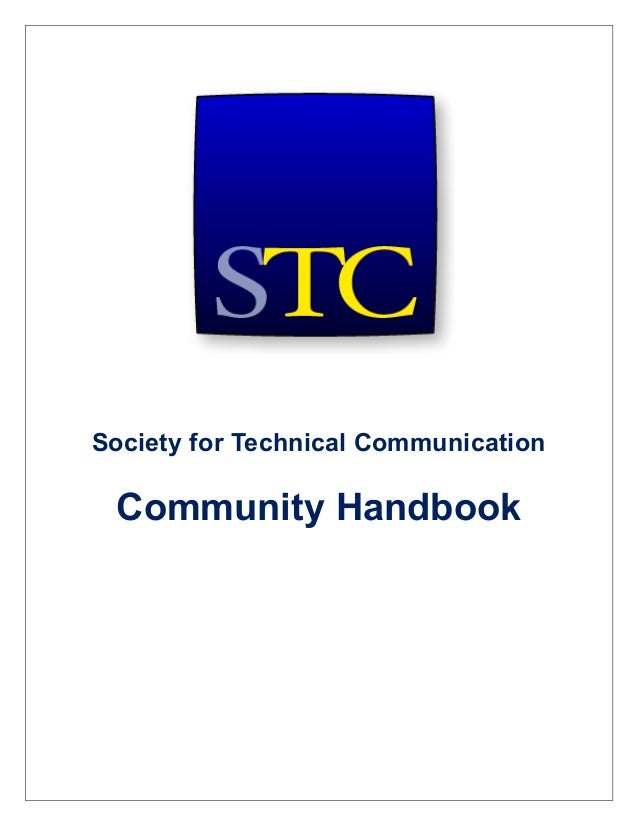 Society for Technical CommunicationCommunity Handbook