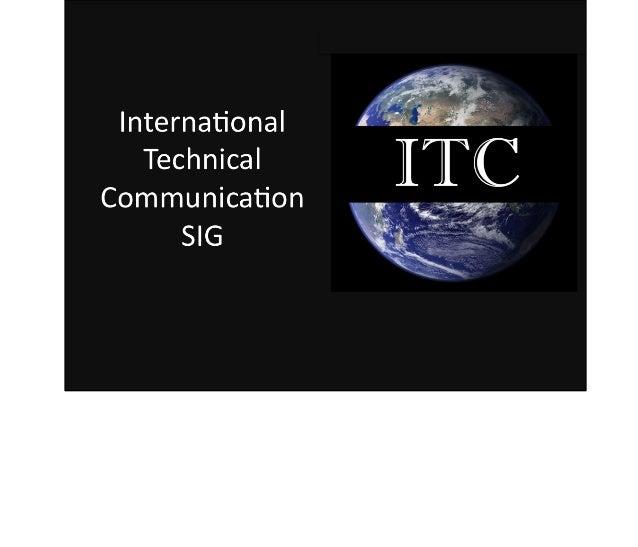 STC International Communication SIG - SIGs on Parade