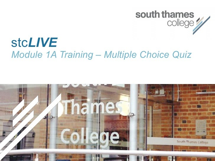 Stc Live Module 1 A Training