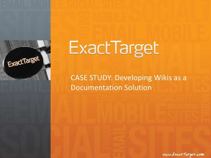 CASE STUDY: Developing Wikis as a Documentation Solution<br />