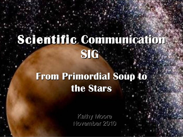 STC Scientific Communication SIG - SIGs on Parade