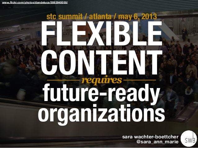 Flexible Content Requires Future-Ready Organizations