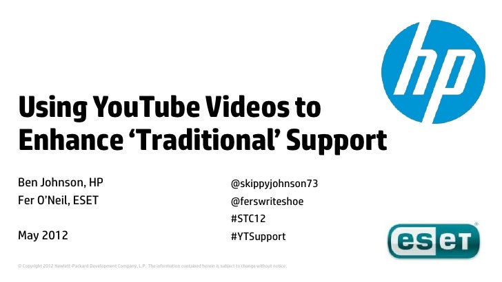 Using YouTube Videos to Enhance 'Traditional' Support