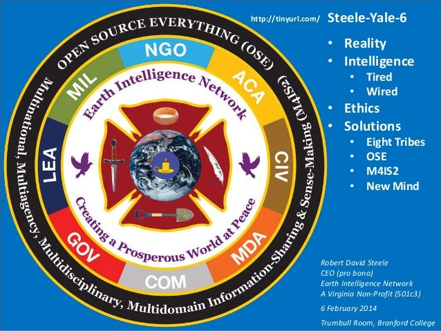Steele @ Yale ON INTELLIGENCE -- Spies, Lies, & Knowing