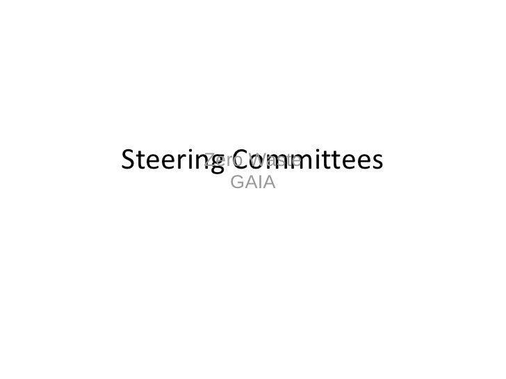 Steering Committees        Zero Waste        GAIA