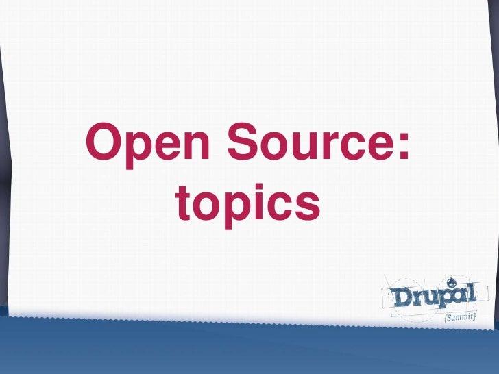 Open Source: topics<br />