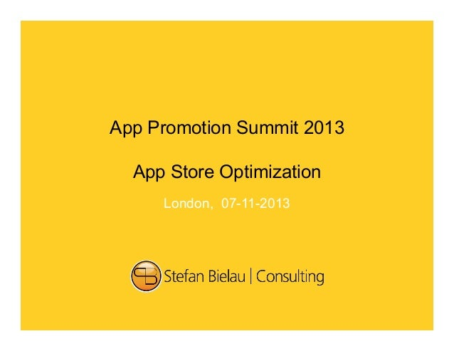'Application Store Optimization (ASO)' - Dos and Don'ts - Stefan Bielau - #APS2013