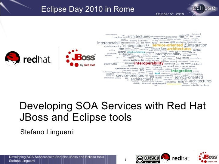 Eclipse Day 2010 in Rome                       October 5th, 2010           Developing SOA Services with Red Hat       JBos...