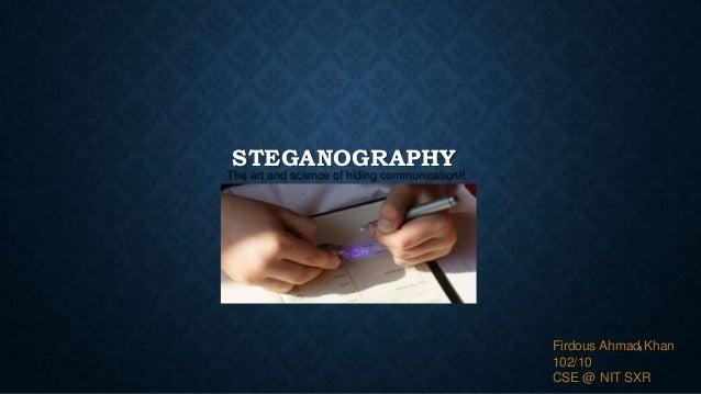 Steganography(Presentation)