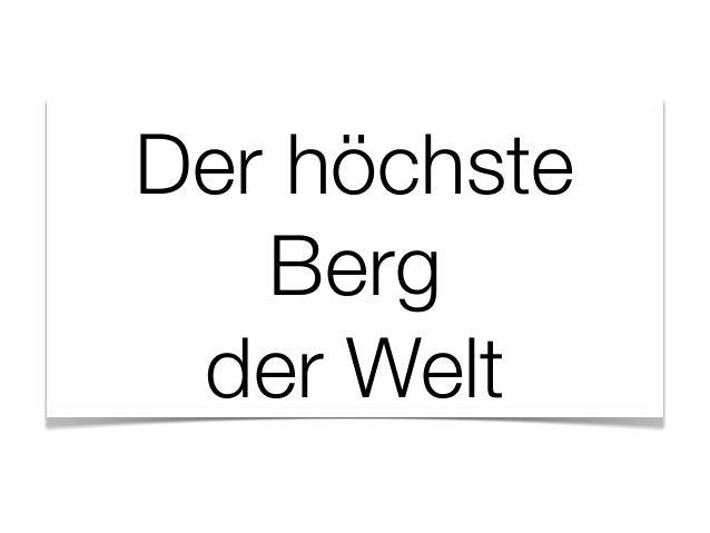 Markus Stegfellner: Der höchste Berg (TEDxStuttgart, 2013-02-13)