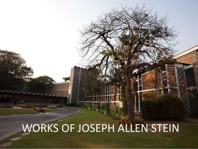 WORKS OF JOSEPH ALLEN STEIN