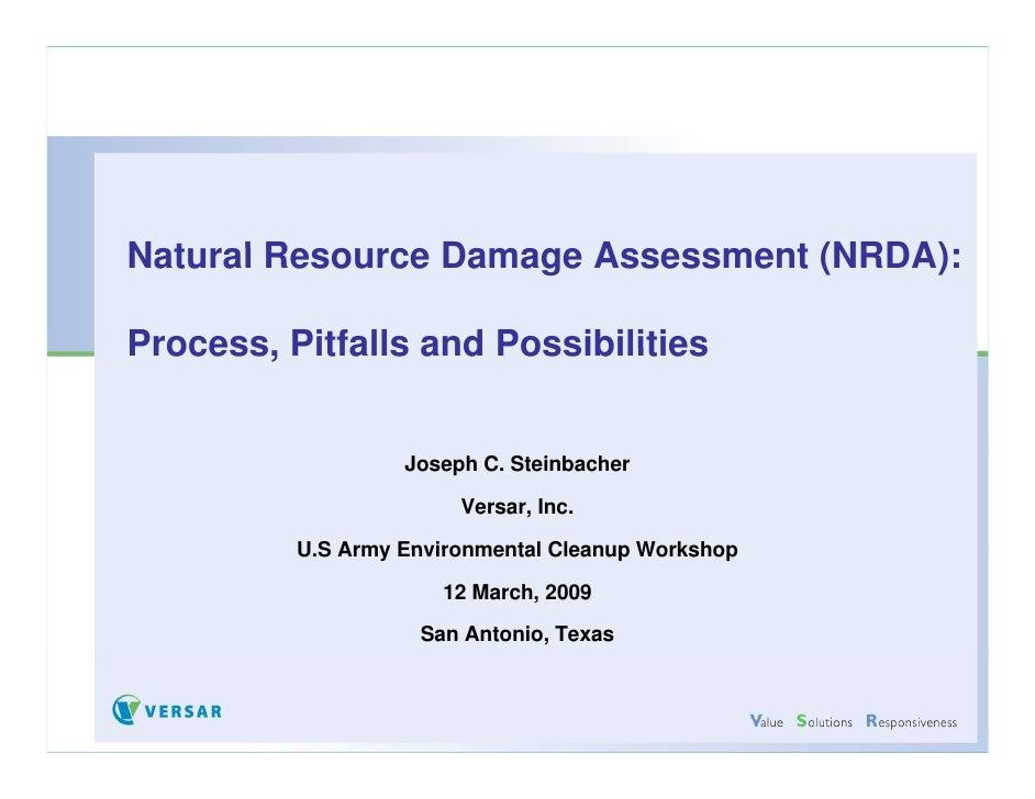 Natural Resource D Nt    lR         Damage A                         Assessment (NRDA)                                  t ...