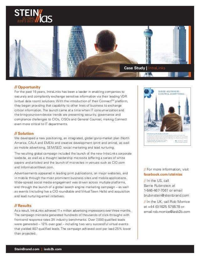 GLOBAL  B2B'S BEST                                                                                 Case Study | IntraLinks...