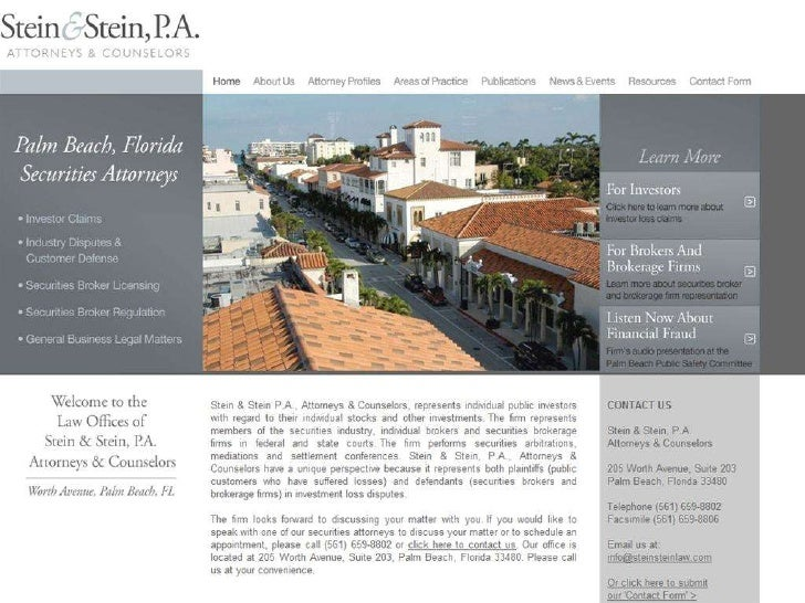 Stein & Stein, P.A. Website