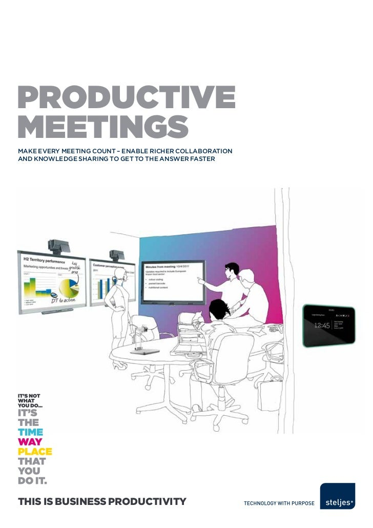 ProductivemeetingsMake every Meeting count – enable richer collaborationand knowledge sharing to get to the answer fasterT...