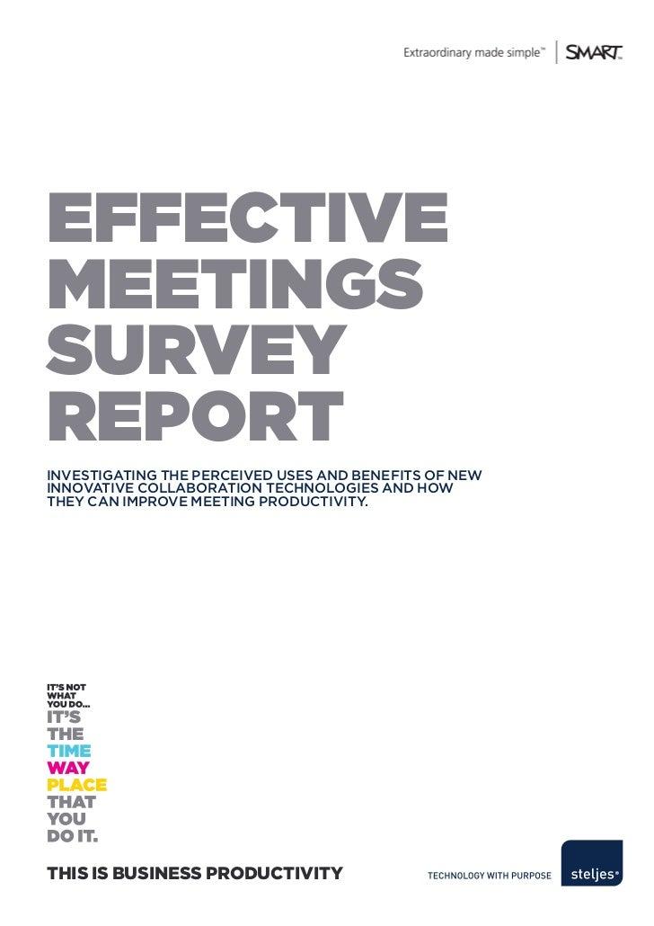 Steljes effective meetings survey report