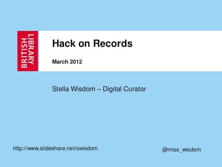 Stella hack on records