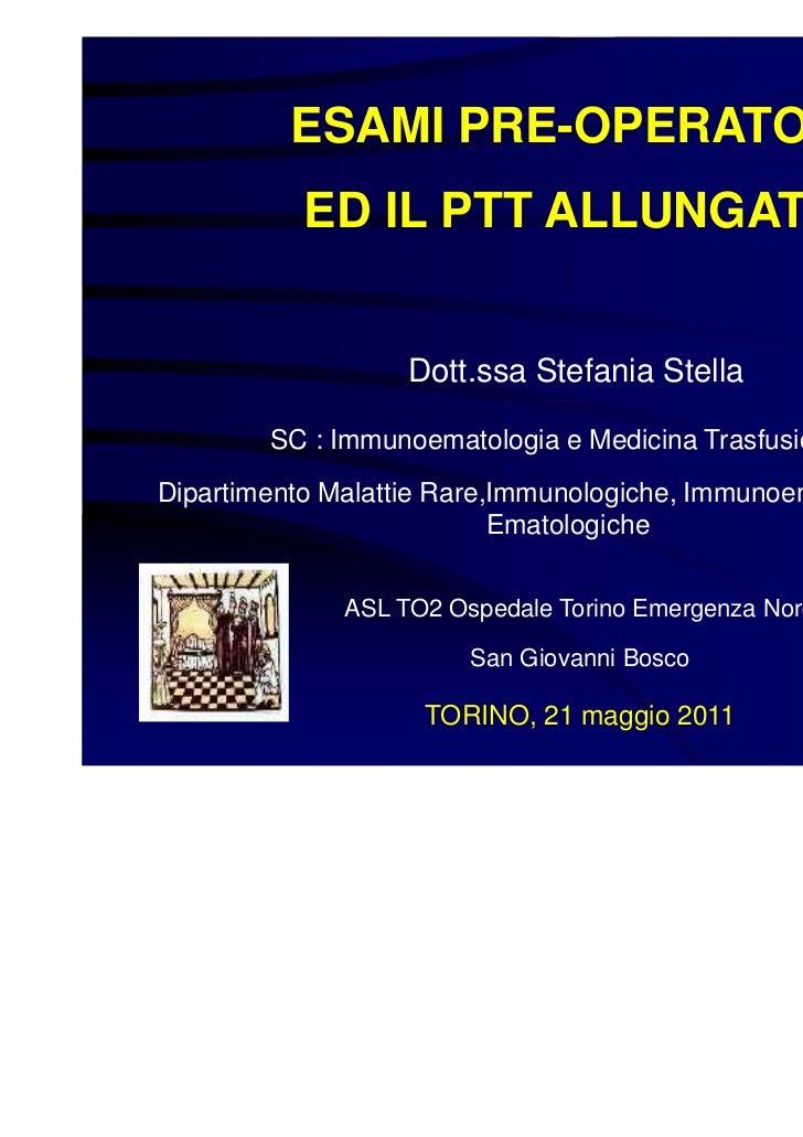 Stella le urgenze in ematologia 21 maggio 2011