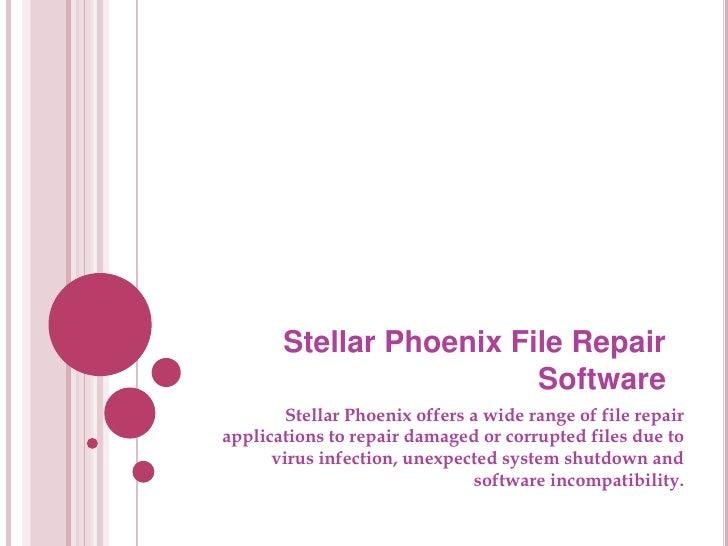 Stellar file repair