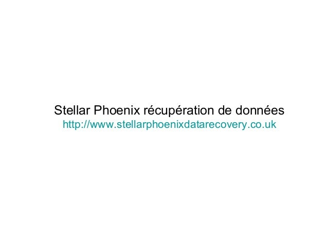 Stellar Phoenix récupération de données http://www.stellarphoenixdatarecovery.co.uk