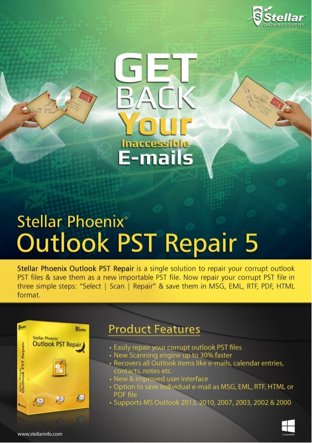 Stellar Phoenix Outlook PST Repair 5 Brochure
