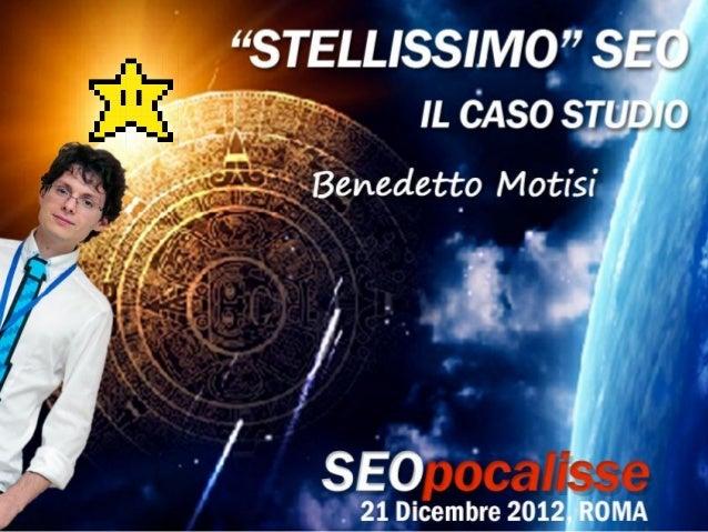Chi sono    Benedetto Motisi                          Sono coordinatore del SEO Training e SEO di DEA                     ...