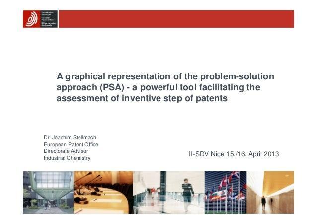 II-SDV Nice 15./16. April 2013 Dr. Joachim Stellmach European Patent Office Directorate Advisor Industrial Chemistry A gra...