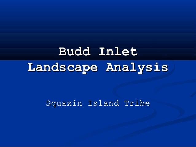 Steltzner budd inlet habitat conference