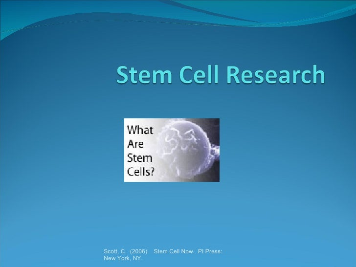 Stem Cell Research (HED 100)