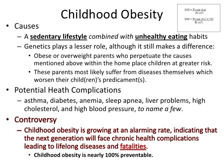 Cause and effect essay on childhood obesity