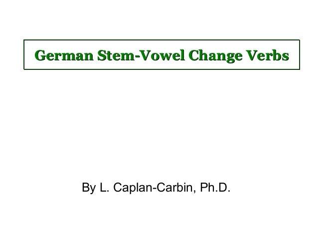 Stem vowel-change-verbs