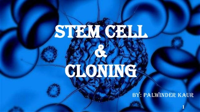 STEM CELL & CLONING By: Palwinder Kaur 1