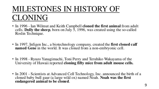 History of Cloning?
