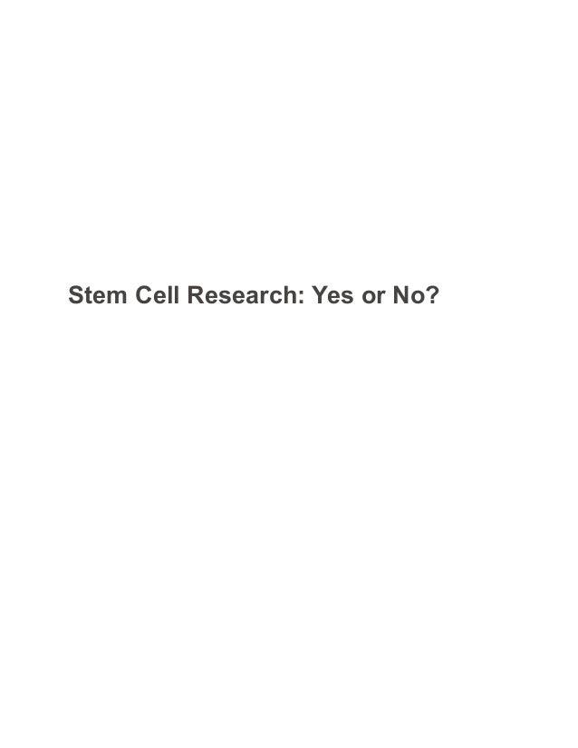 Stem Cell Essay Outline