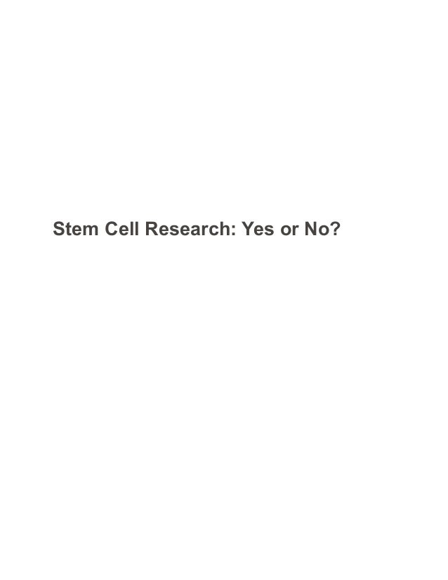 Persuasive essay on stem cell research