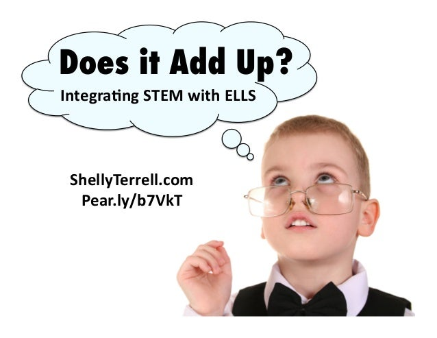 ShellyTerrell.com	    Pear.ly/b7VkT	    Does it Add Up? Integra8ng	   STEM	   with	   ELLS