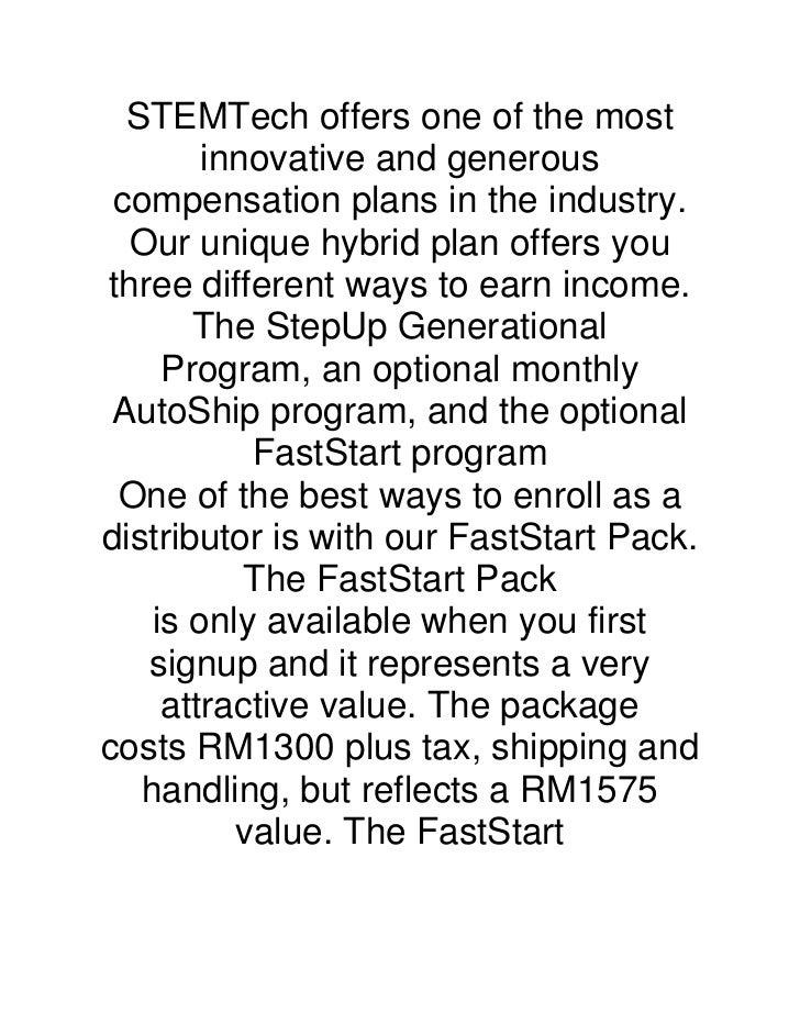 Stemtech income plan ++