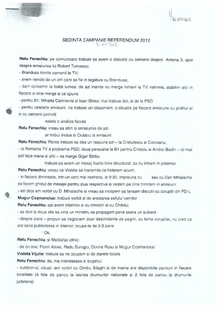 Stenograma Sedinta PNL Campanie Referendum 2012