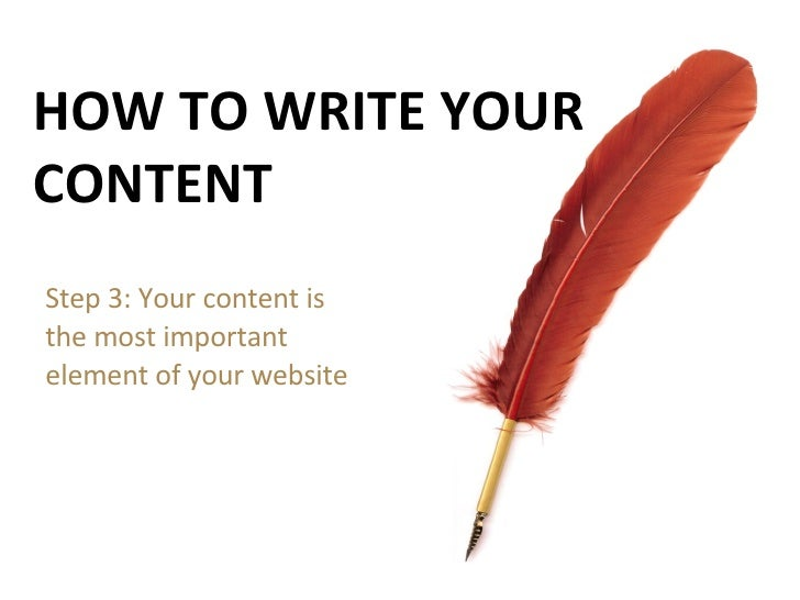 Step 3: How To Write Your Content