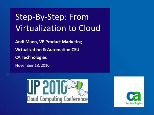 Step‐By‐Step: From  Virtualization to Cloud November 18, 2010 Andi Mann, VP Product Marketing Virtualization & Automation ...